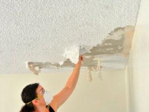 Как выровнять потолок своими руками. Часть 1 - Очистка потолка