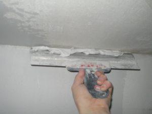 Как выровнять потолок своими руками. Часть 1 - Следующий слой шпатлевки