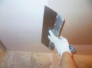 Как выровнять потолок своими руками. Часть 1 - Заключительный этап – финишная шпатлевка
