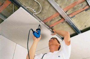 Как выровнять потолок своими руками. Часть 2 - Выравнивание потолка гипсокартоном