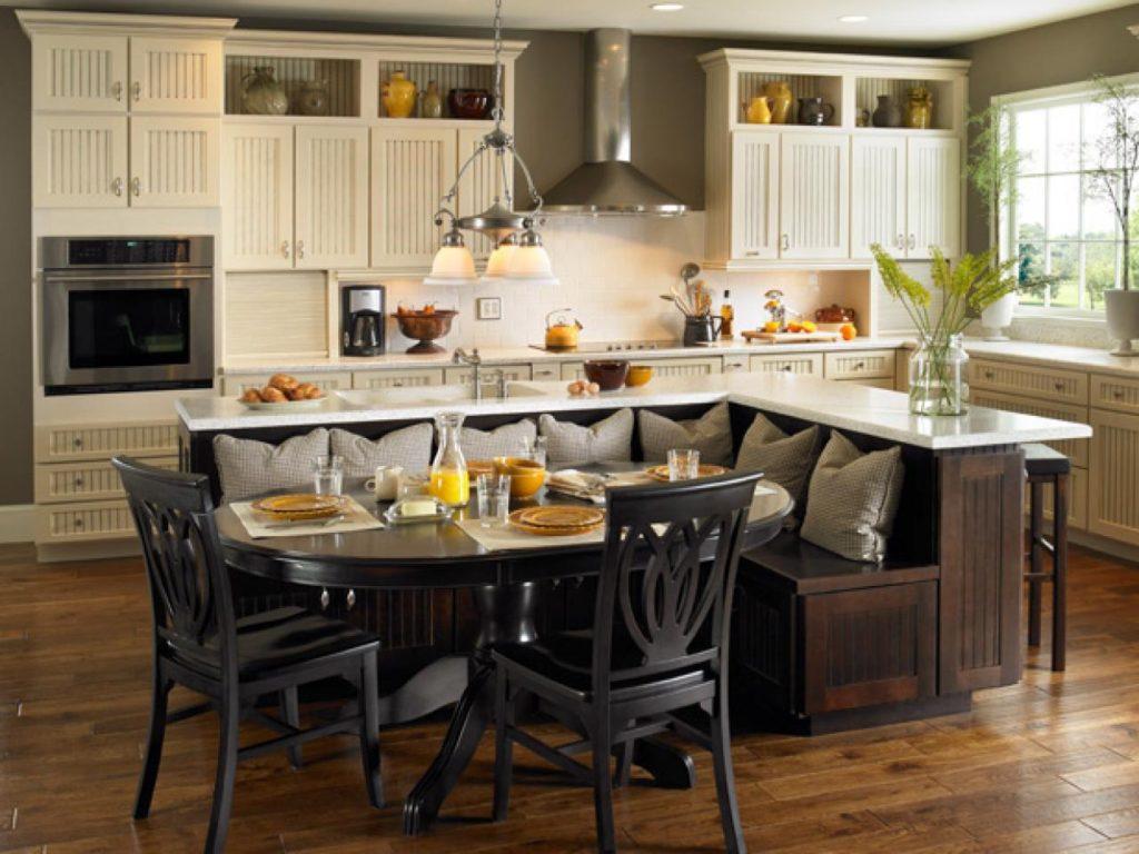 Кухни угловые дизайн с островом